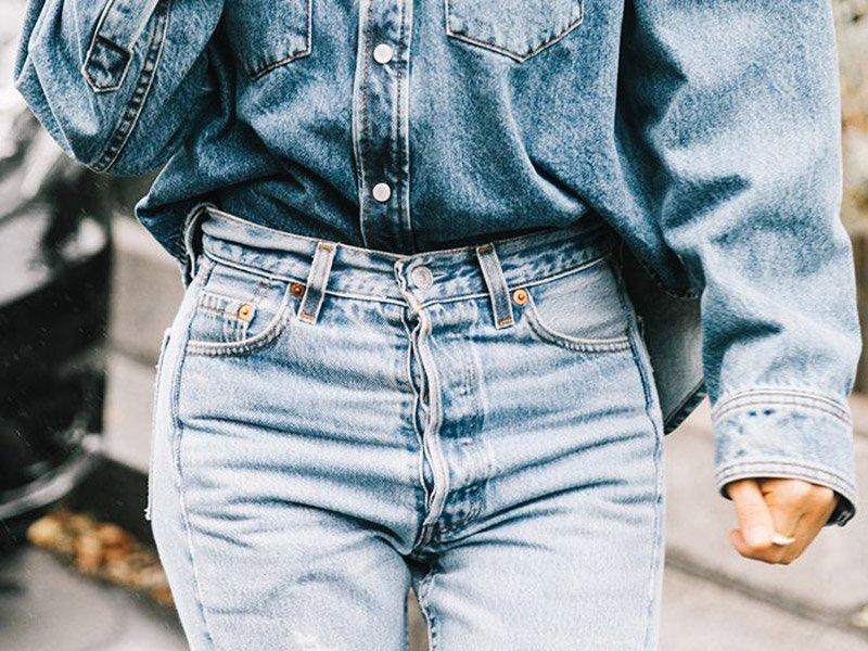 foto di jeans a vita alta