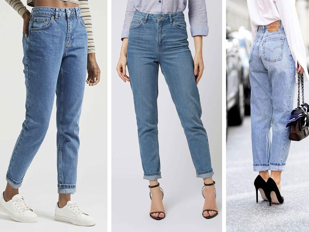 foto Moda jeans 2019: mom jeans