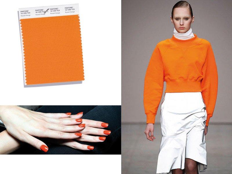 Foto del colore arancione