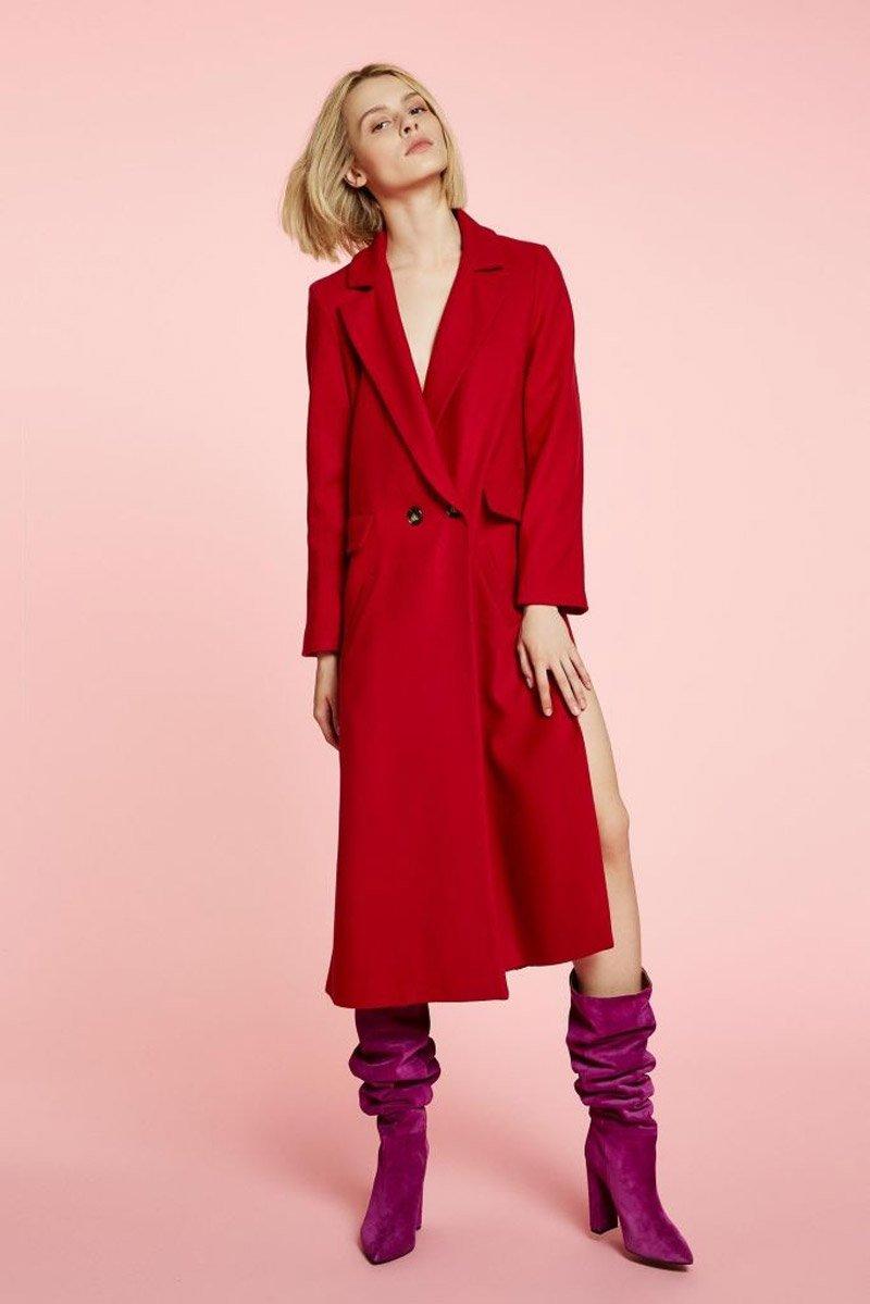 Foto del cappotto rosso