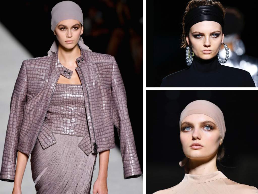 immagine dei Capelli 2019: foulard e chignon