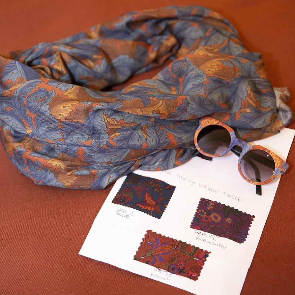 foto delle sciarpe di Lulu Redgrove