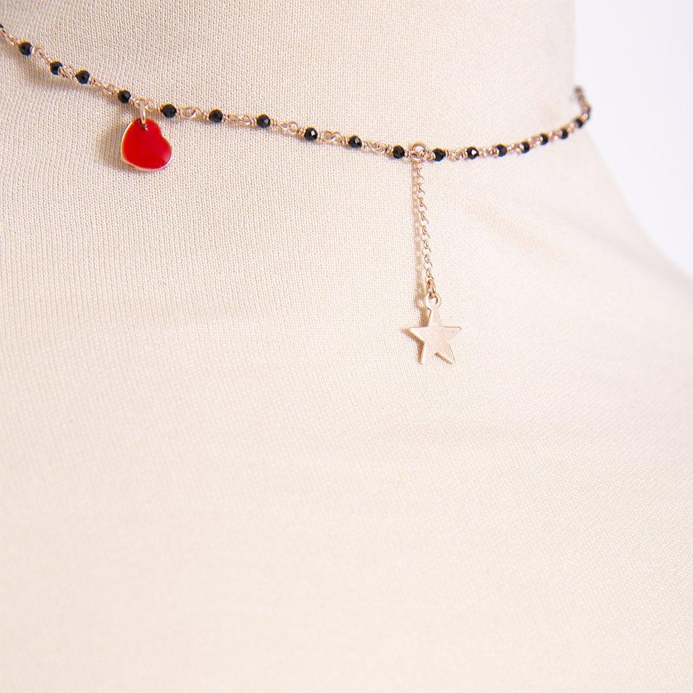 Foto della collana di Natale di 20 celesti bijoux