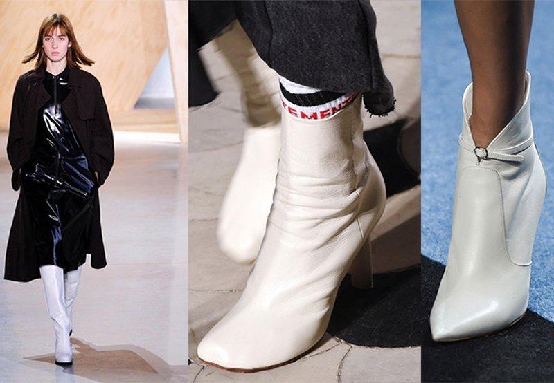 Tendenza stivali e stivaletti bianchi
