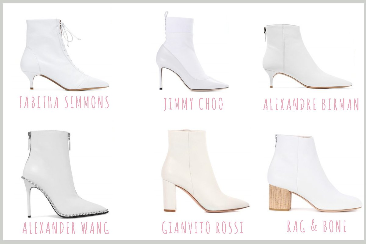 Gli stivaletti bianchi più fashion del momento