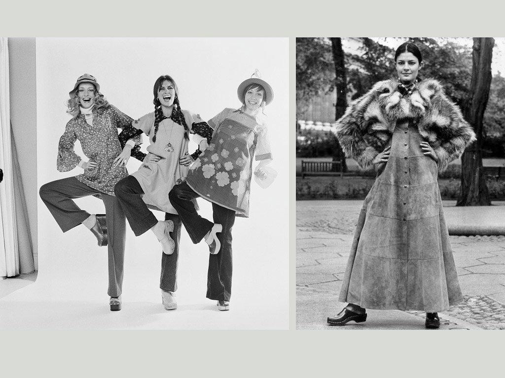 Le clogs negli anni settanta