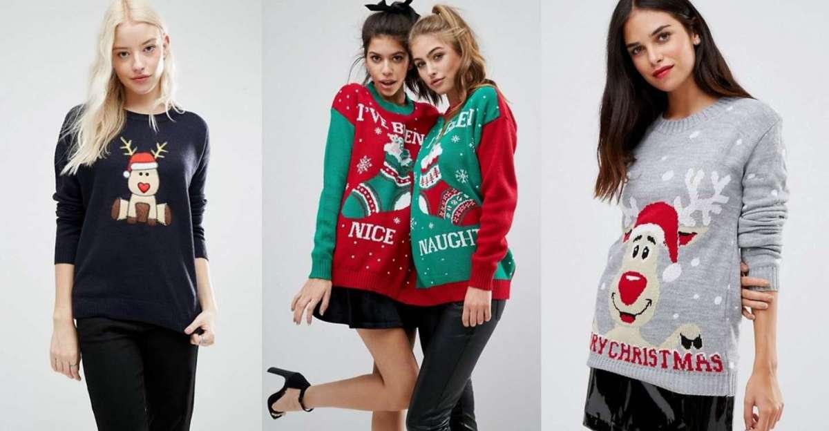Foto di 3 modelli di maglioni di Natale
