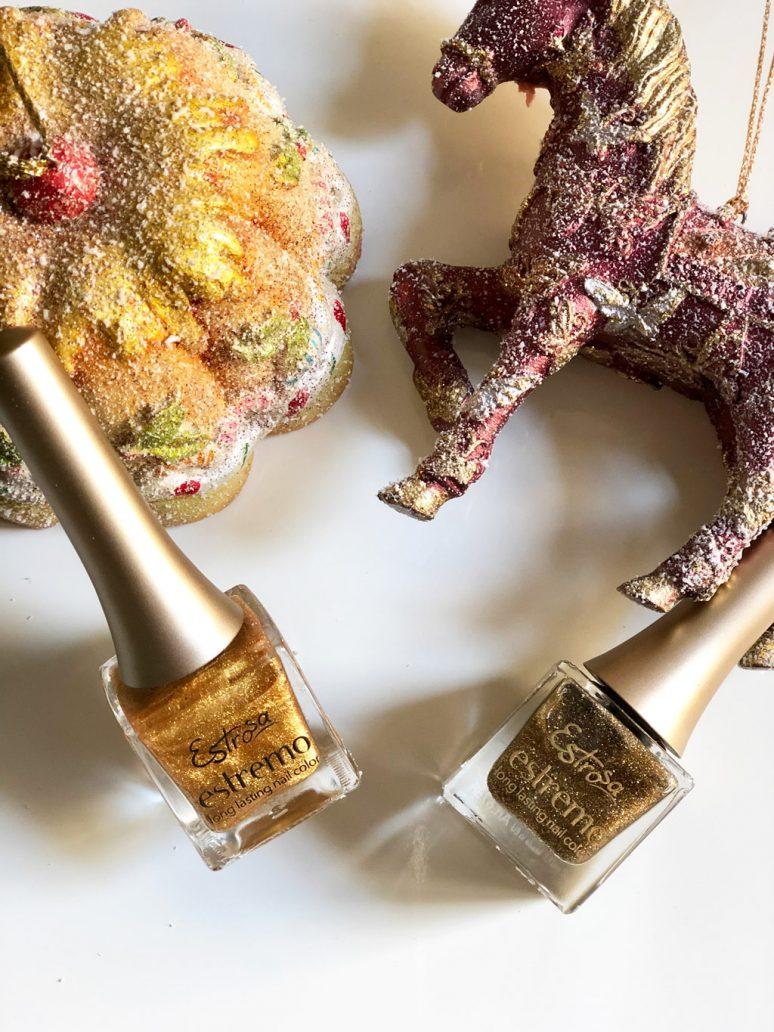 Immagine di 2 smalti oro con glitter di Estrosa