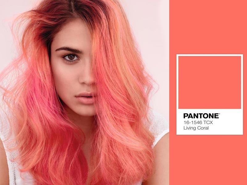 foto colore capelli living coral