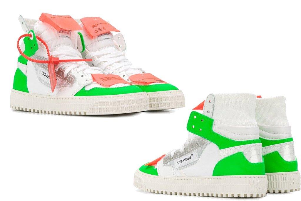 Foto di sneakers bianche alte di Off White