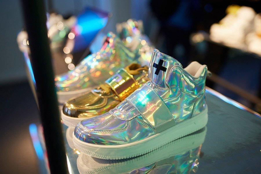 Sneakers lucide oro e argento