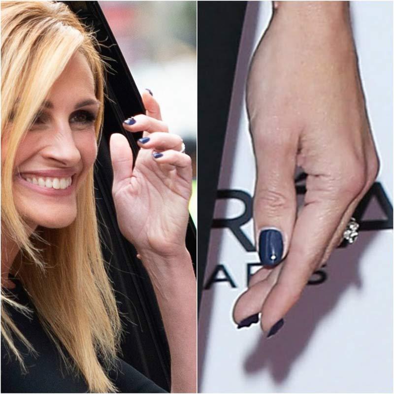 foto julia roberts con la manicure ai cristalli
