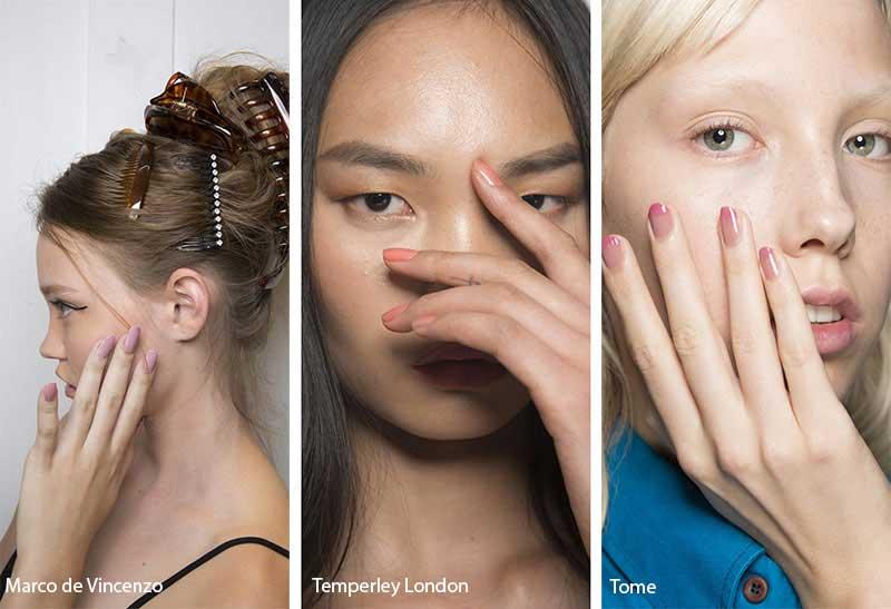 Foto della manicure dalle sfilate