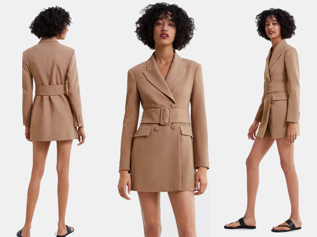 foto giacca con cintura camel di Zara