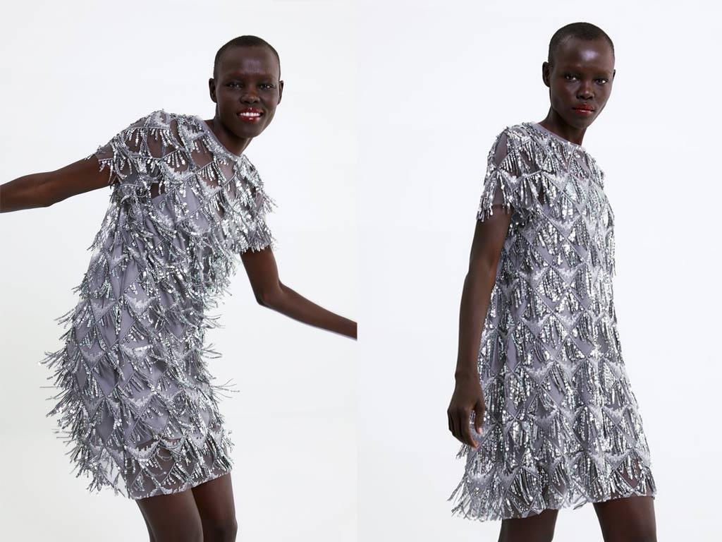 foto vestito frange e paillettes