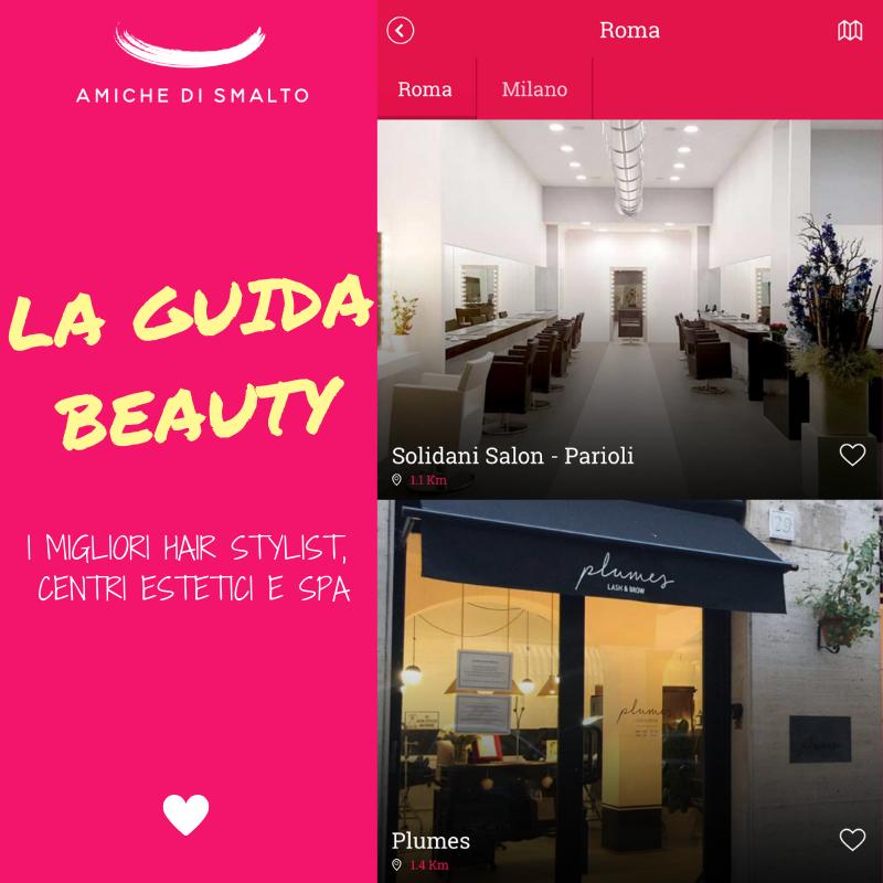 foto della guida beauty dell'app mobile di amiche di smalto