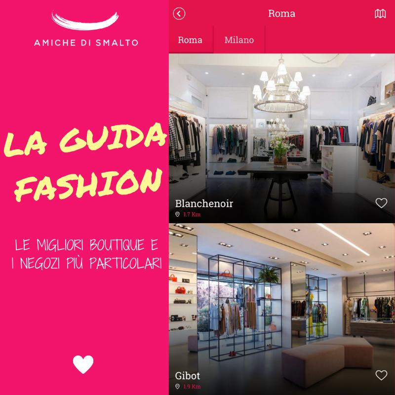 foto della guida fashion dell'app mobile di amiche di smalto