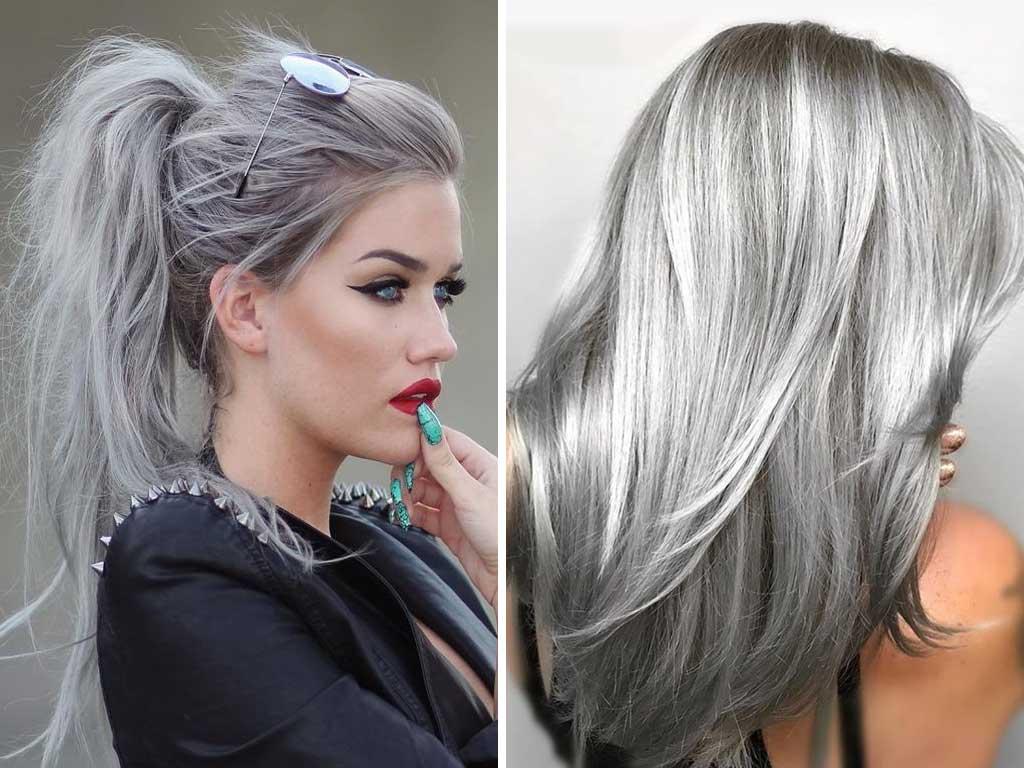 foto colore capelli primavera estate 2019 silver hair