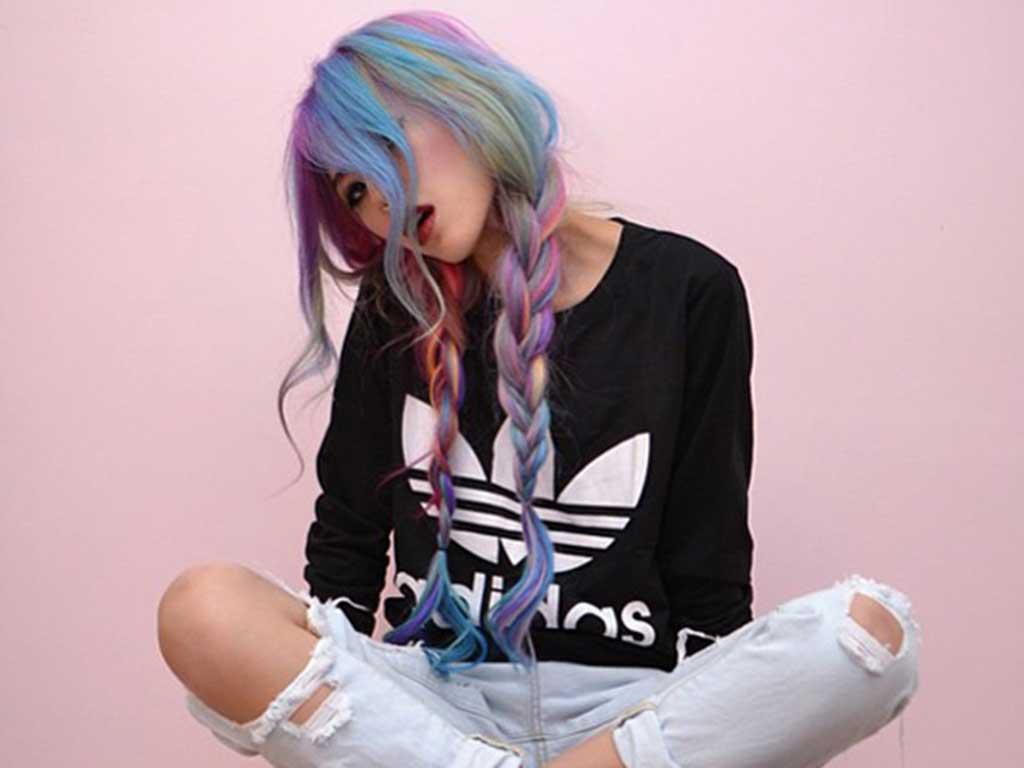 foto colore capelli primavera estate 2019, rainbow hair