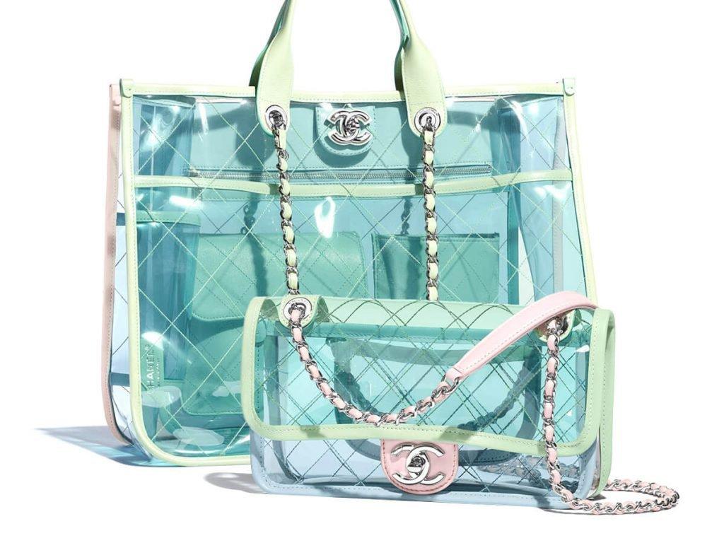 foto di borse in pvc colorate di Chanel