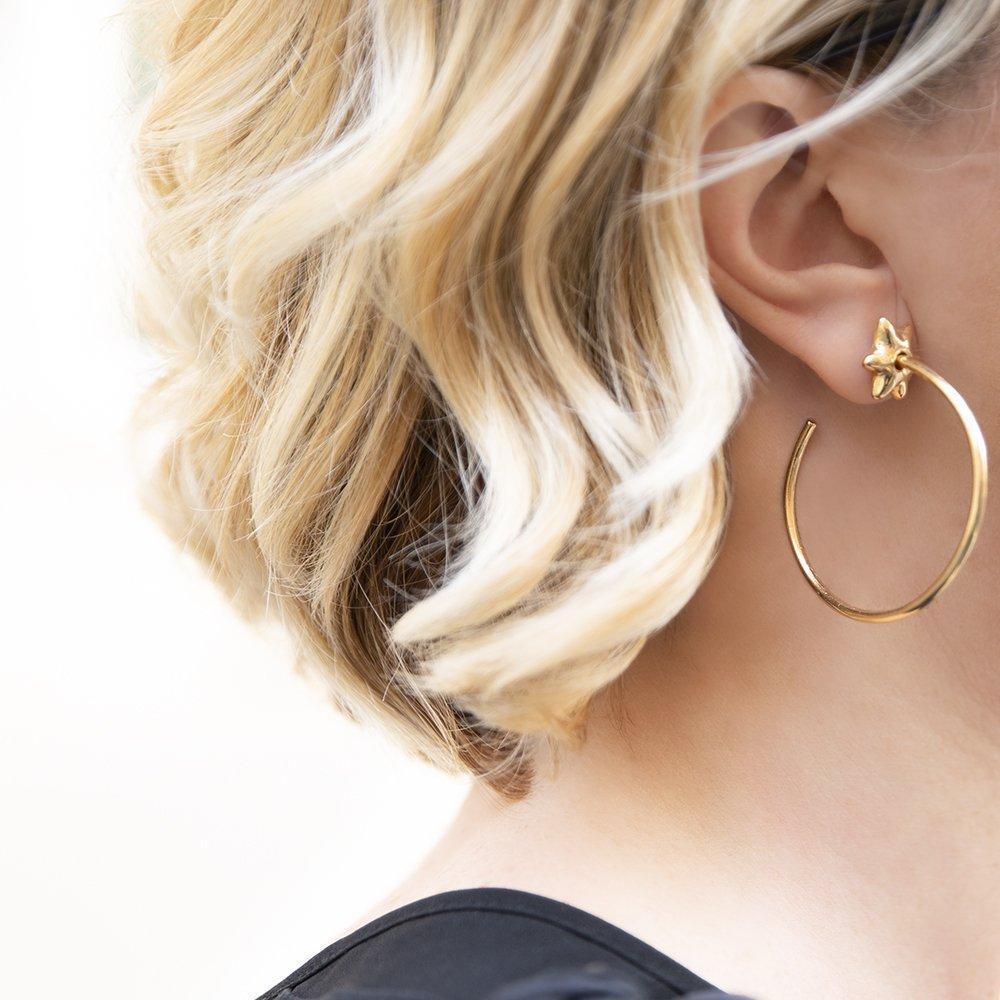 gli Orecchini a cerchio sono i gioielli e bijoux 2019