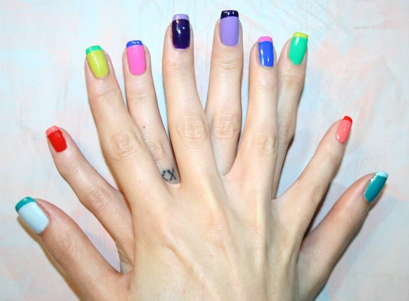 foto di unghie colorate