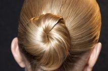 foto chignon con capelli biondi