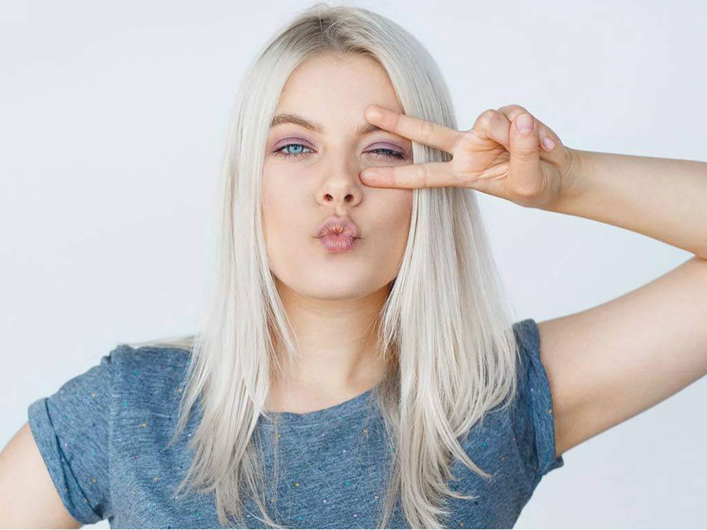 foto colore capelli platino