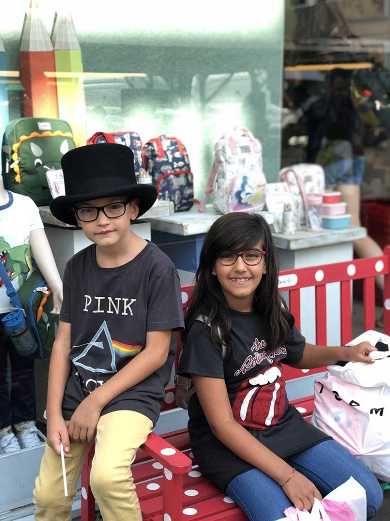 Foto di bambini a Portobello Road