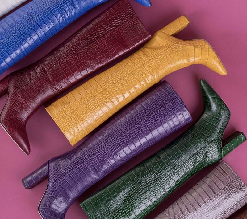 Stivali colorati stampa cocco
