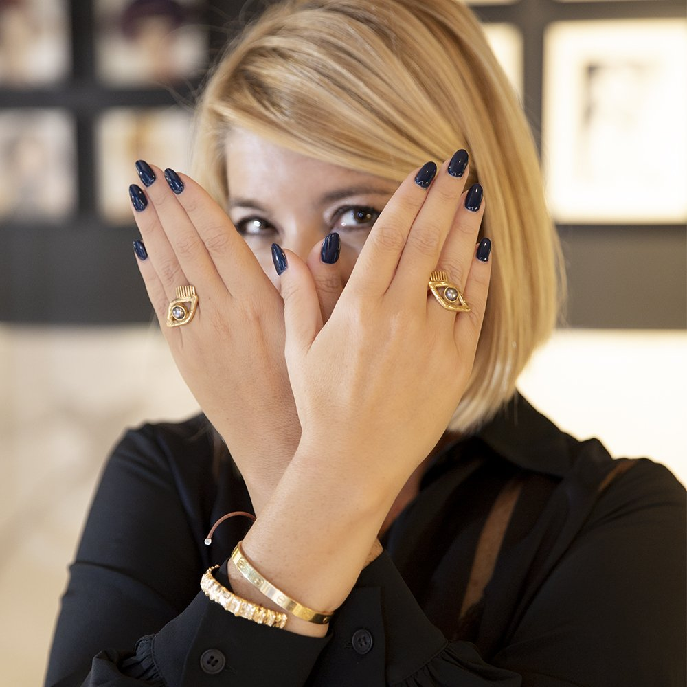 Gli anelli eyes di Giulia Barela Jewelry tra i gioielli di tendenza autunno inverno 2019-2020