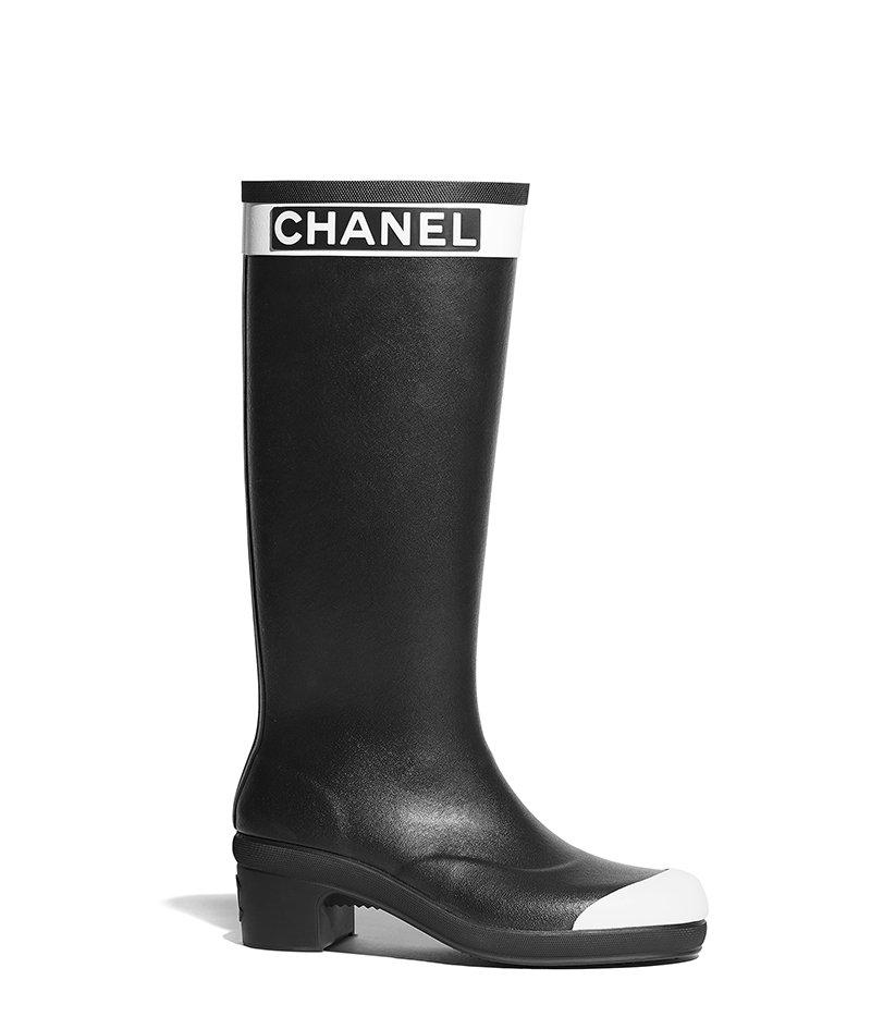 Stivale alto in gomma Chanel