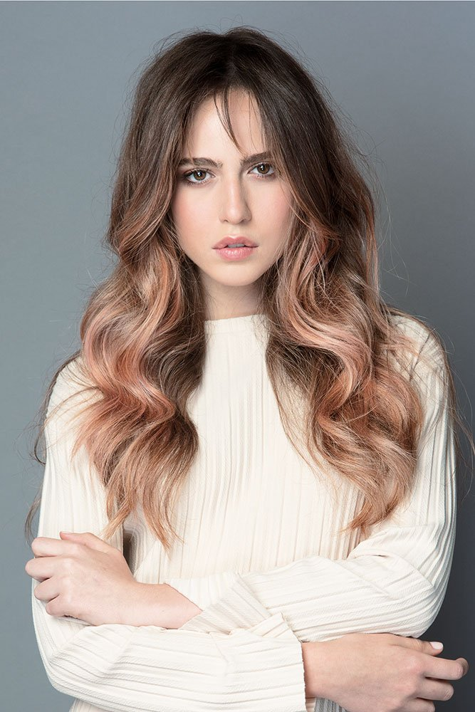 Foto di capelli rose brown