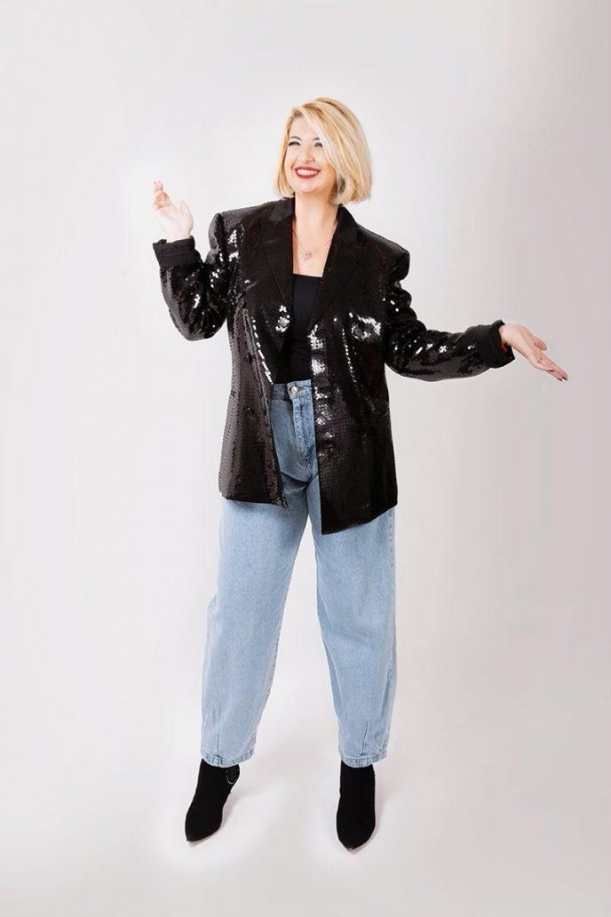 Foto di giacca paillettes per il look di Natale
