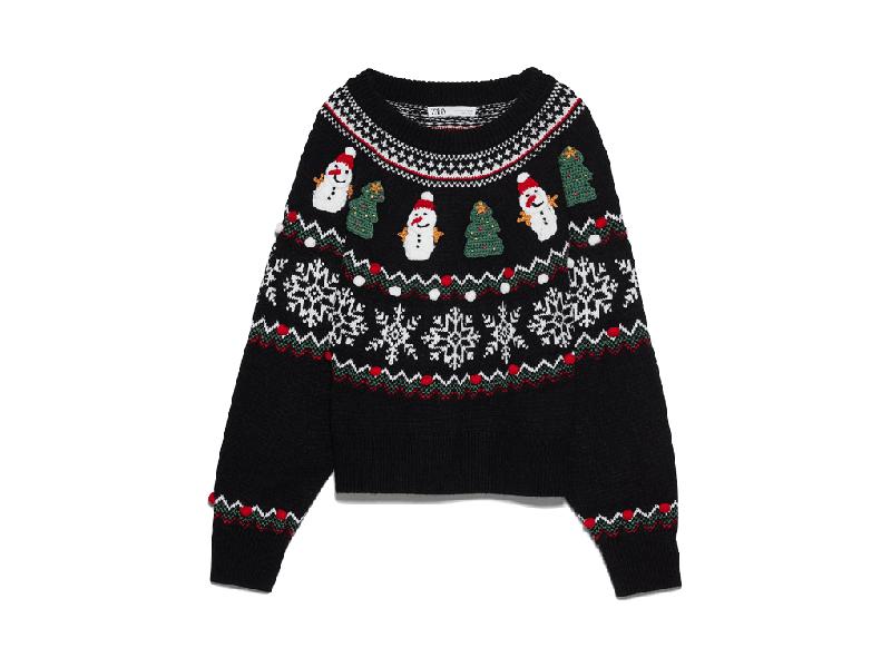Foto del maglione natalizio di Zara