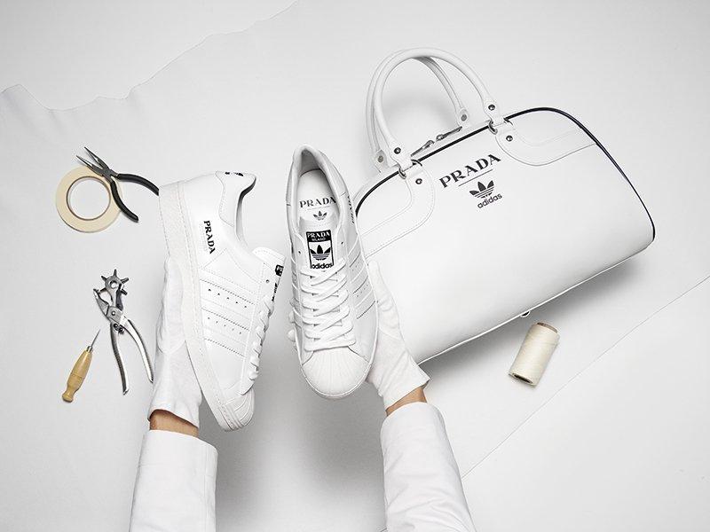 Foto di sneakers Prada e Adidas