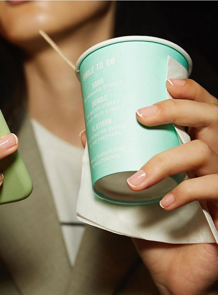 Foto di micro french manicure