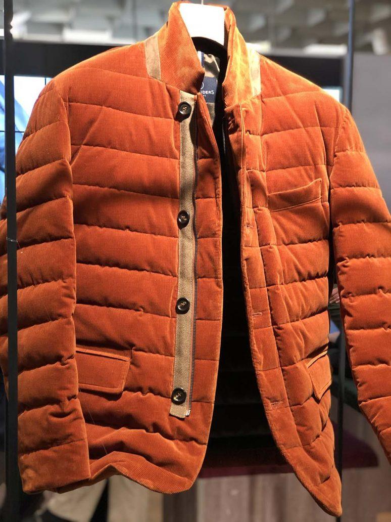 Giacca in velluto arancione