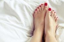 Foto di smalto piedi