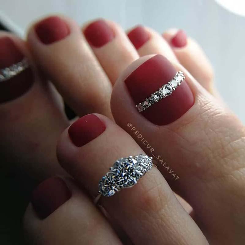 Foto di decorazioni unghie smalto piedi