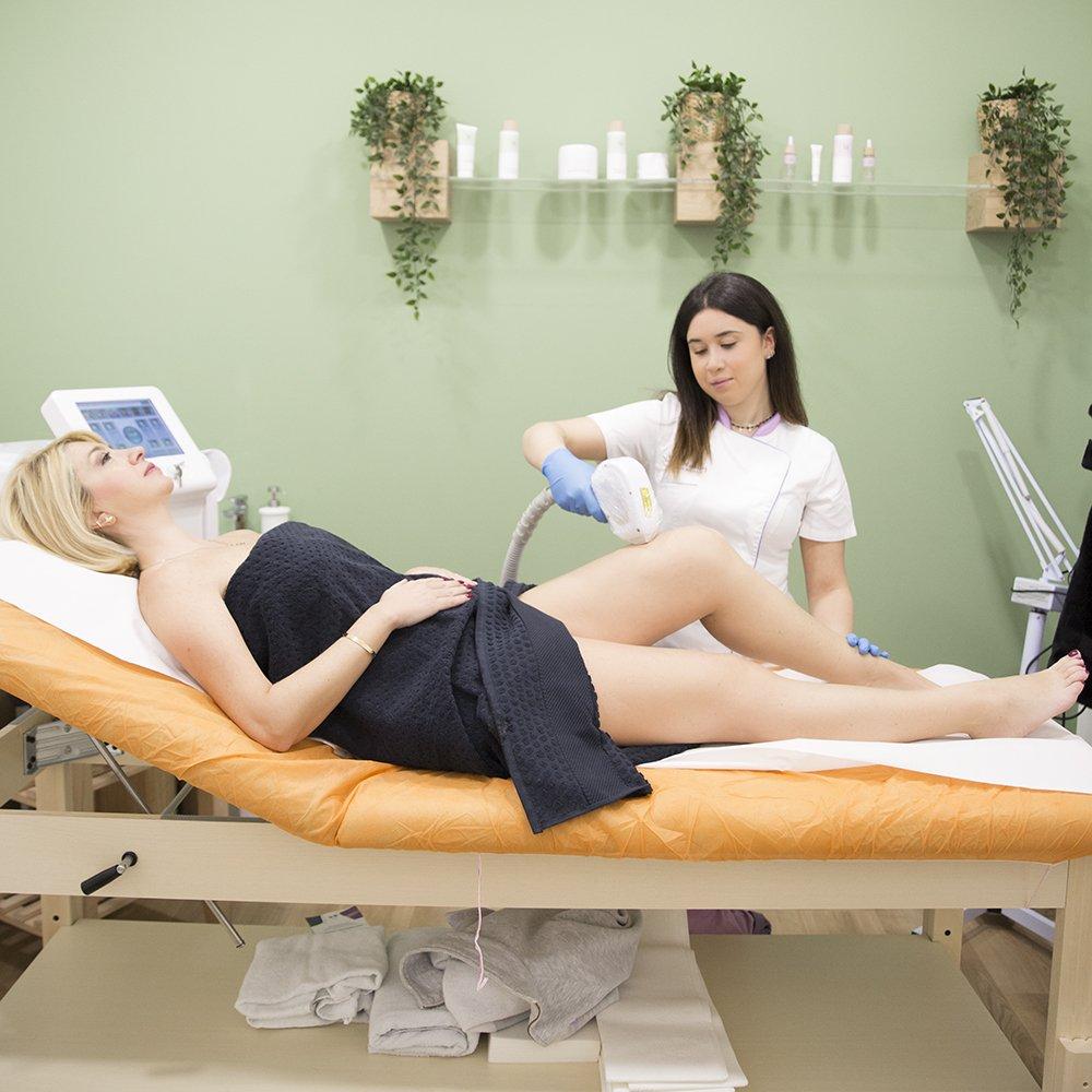 Foto di trattamento epilazione permanente 2020