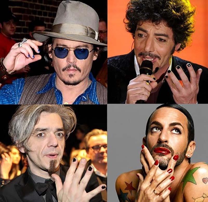 Foto di uomini con lo smalto