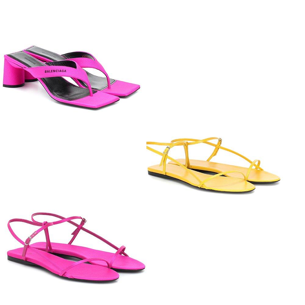 foto di sandali colorati