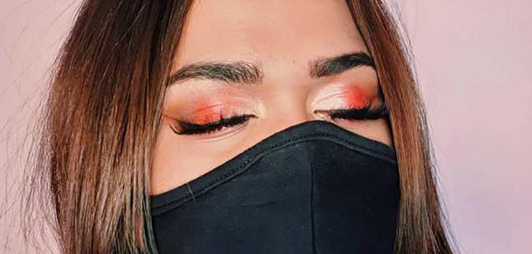 Foto di make up con la mascherina