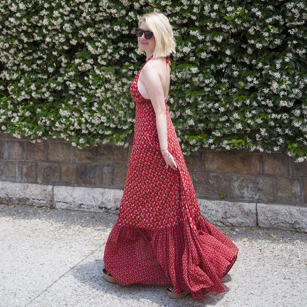 Foto di abito estivo rosso Luluredgrove