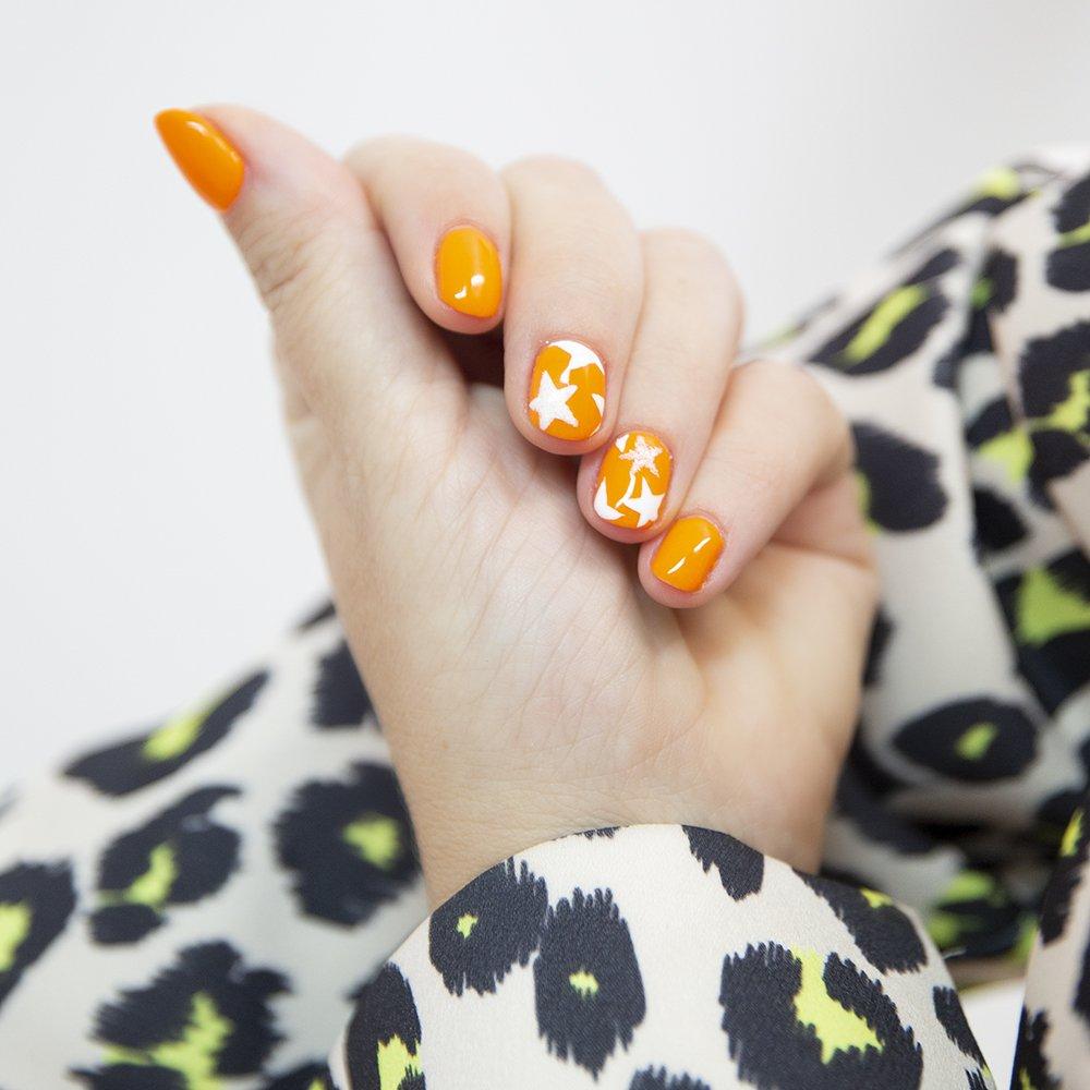Foto di smalto arancione