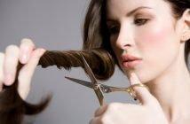 Foto di taglio capelli a casa