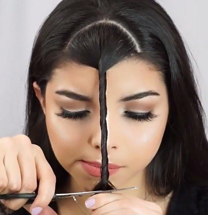 Foto di taglio capelli fai da te
