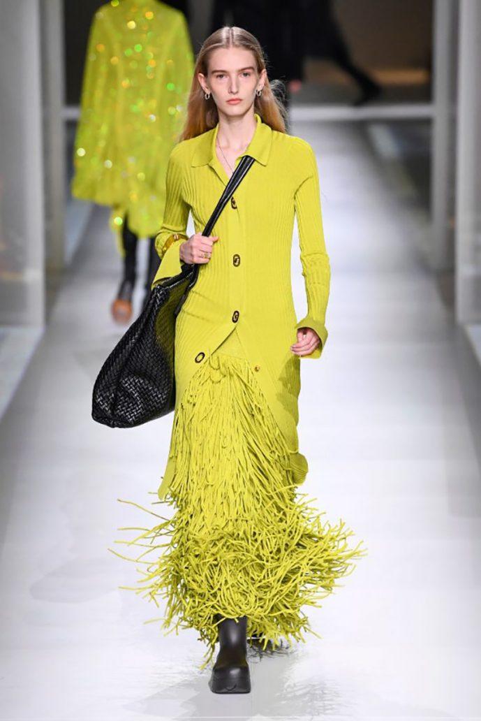 Foto di abito giallo Bottega Veneta