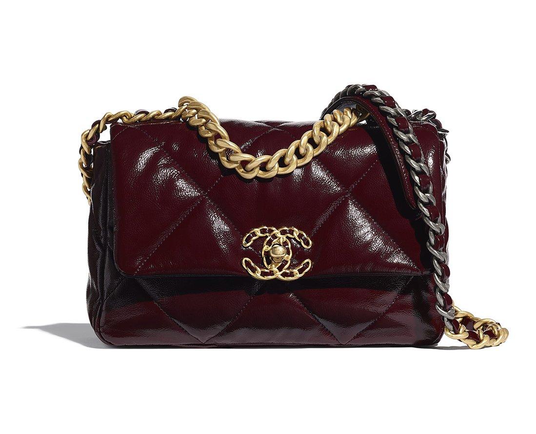 Foto della borsa Chanel 19 Burgundy